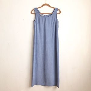 Vintage dress blue slip on casual comfortable 8P